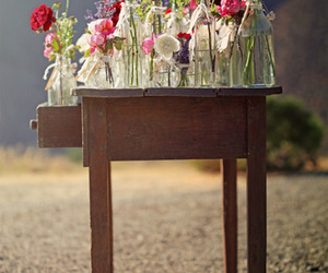 bottles, pretty, and flowers image