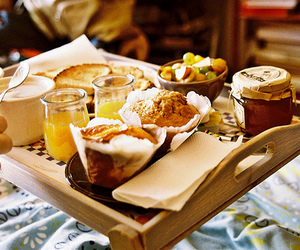 breakfast, muffin, and food image