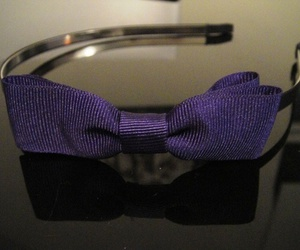 bow, headpiece, and purple image