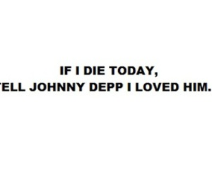 johnny depp and text image