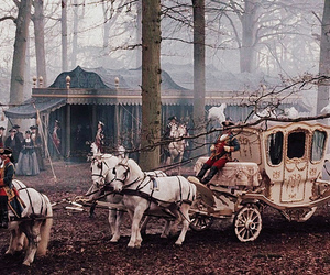 marie antoinette, carriage, and horse image