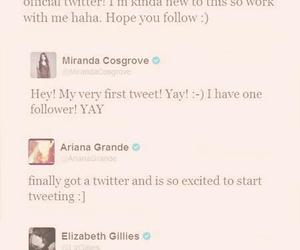 famous people, miranda cosgrove, and tweets image