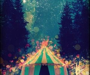 circus, night, and stars image