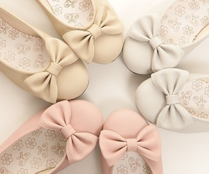 shoes, pink, and bow image