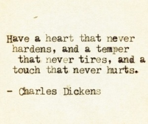 charles dickens, words, and heart image