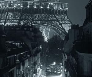 paris, eiffel tower, and night image