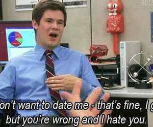 funny, date, and hate image