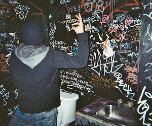 boy, graffiti, and hipster image