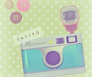 smile, camera, and pastel image