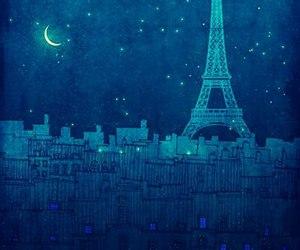 blue, illustration, and night image