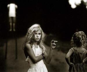 girl, smoke, and cigarette image