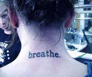 breathe, girl, and neck image