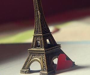 heart, paris, and torre eiffel image