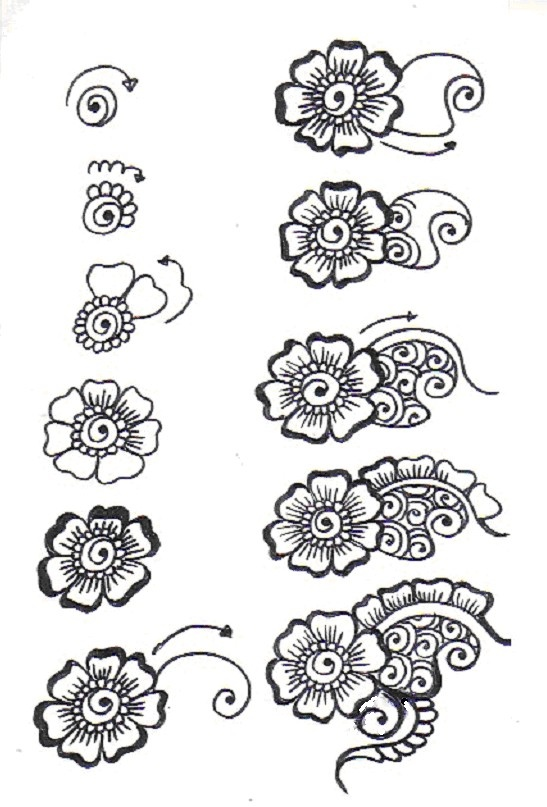 Easy To Draw Flower Designs