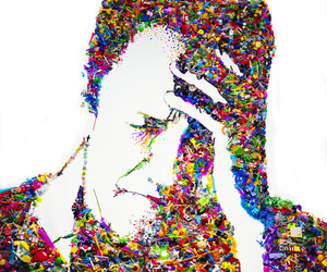 art, colorful, and vik muniz image