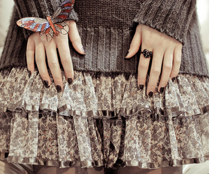 fashion, butterfly, and skirt image