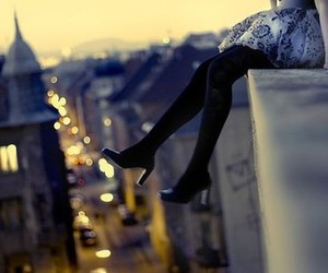 girl, city, and shoes image