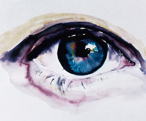 eye and watercolour image
