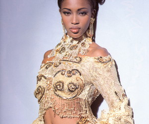 Naomi Campbell, model, and Versace image
