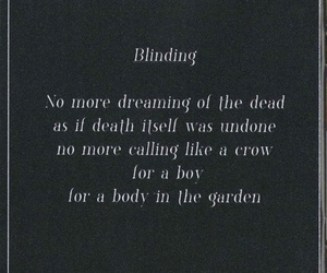 Lyrics and blinding image