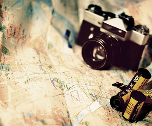 camera, map, and photography image