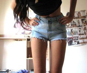 fashion, shorts, and skinny image