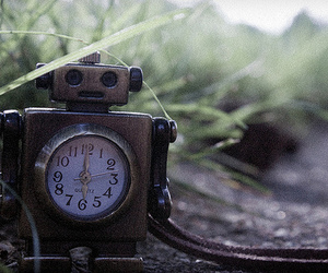 robot and vintage image