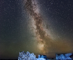 milky way, sparkle, and stars image