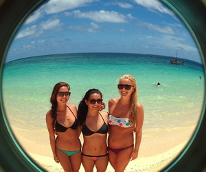 beach, bikini, and camera image