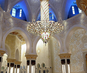 mosque, islam, and lights image
