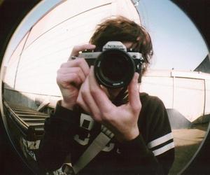boy, camera, and fisheye image