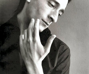 adrien brody, actor, and black and white image