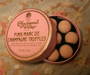 truffles, pink, and food image