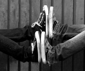 couple, shoes, and black and white image