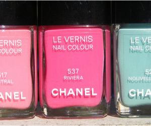 art, pink, and nail colour image