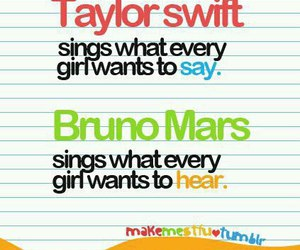 bruno mars, Taylor Swift, and song image