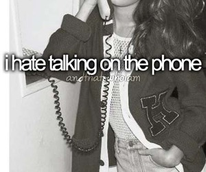 phone, talking, and hate image