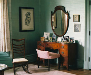 vintage, room, and mirror image