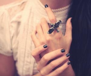 ring, bird, and nails image