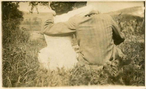 couple, old, and black and white image