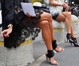 fashion, shoes, and lace image