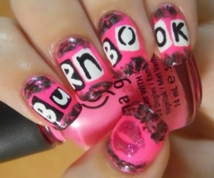 nails, mean girls, and pink image