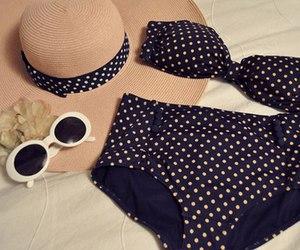 bikini, summer, and hat image