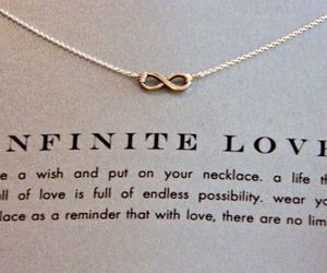 love, infinite, and necklace image