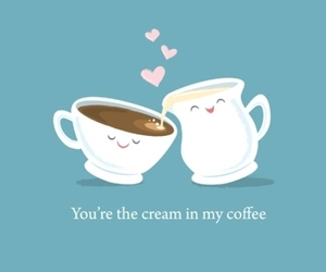 coffee, love, and cream image