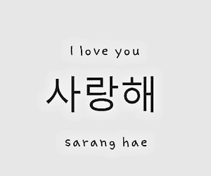 love, I Love You, and korean image