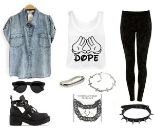 cross, dope, and fashion image