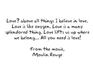 moulin rouge, quote, and text image