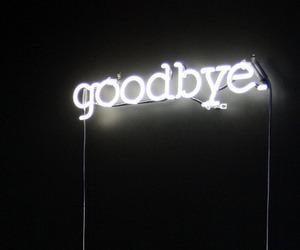 goodbye, light, and neon image