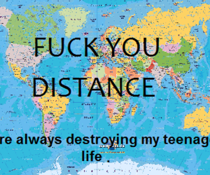 distance, fuck, and you image